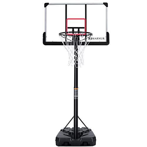 MARNUR Basketballkorb Outdoor Basketballständer Basketballkorb mit Ständer...