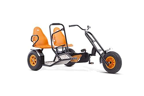 BERG Zweisitzer Pedal-Gokart, Abnehmbarer Beifahrersitz, Für Kinder und...