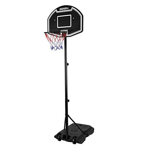 ONETWOFIT Basketballkorb mit Ständer Basketballkorb Set,113-205cm...