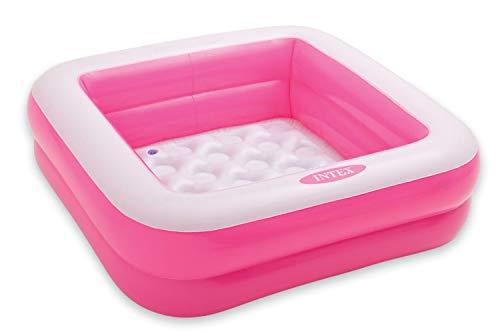 Intex 57100EP 57100NP Baby Pool Spielbox 85 x 85 x 23 cm (Rosa)