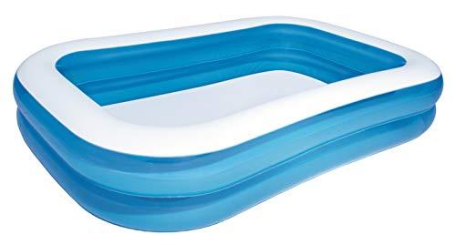 Bestway Family Pool, Pool rechteckig für Kinder, leicht aufbaubar, blau, 262 x...