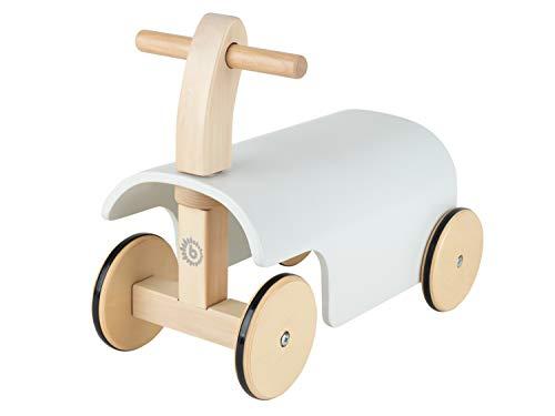 Bieco Rutschauto Holz   weiß   Modernes Holz Rutschfahrzeug ab 1 Jahr   Holz...