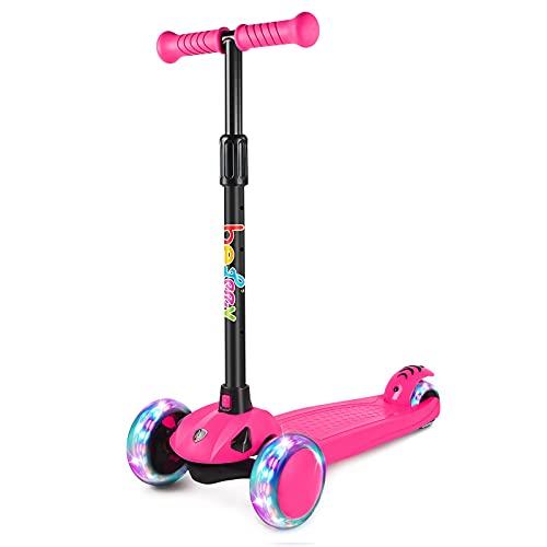 BELEEV Roller Kinder Scooter 3 Räder für Mädchen & Jungen, Kinderroller mit...