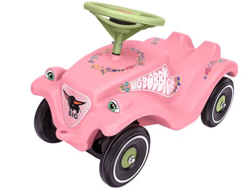 BIG-Bobby-Car Classic Flower - Kinderfahrzeug mit Blumenaufklebern für Jungen...