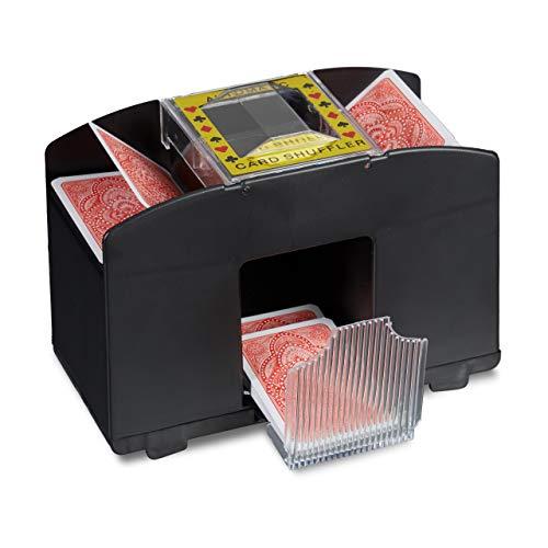 Relaxdays 10020521 Kartenmischmaschine Elektrische Mischmaschine als...