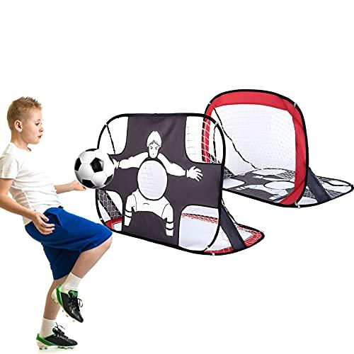 Fussballtore für Garten Kinder,Pop Up Tor,Fußballtor mit Torwand 2 in 1...