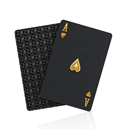 BIERDORF Schwarzer Diamant Kunststoff Pokerkarten Plastik wasserdichte...