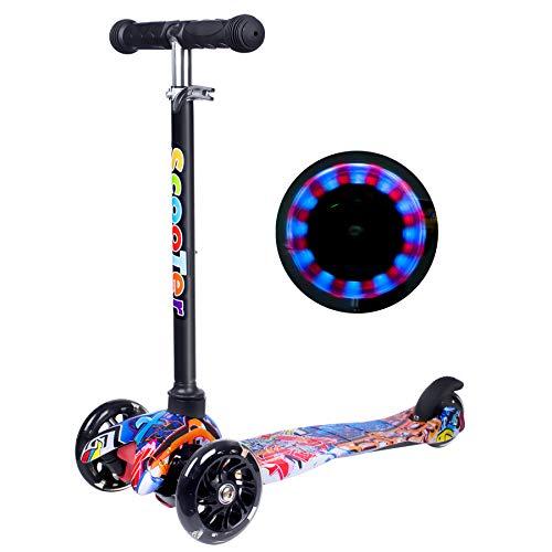 Scooter Kinder Roller, Yuanj Dreiradscooter für Mädchen und Jungen,...