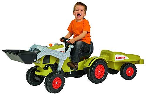 BIG - Claas Celtis Loader mit Anhänger - Kindertrettraktoren, Spielfahrzeug mit...