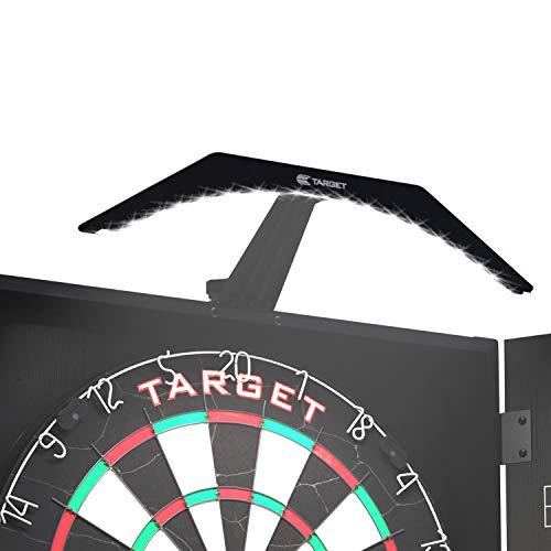 Target Darts Arc Dartboard Kabinett Beleuchtung System, Schwarz mit Weiss LED