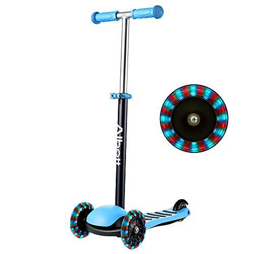 Albott Kinderroller LED 3 (DREI) Räder Kinder Scooter höhenverstellbarer 3...