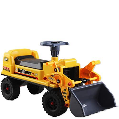 deAO Sitzbagger für Kinder-Toller Bagger-Spaẞ für Drauẞen mit Traktor...