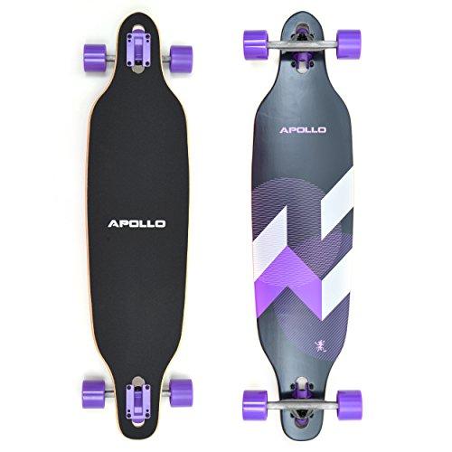Apollo Longboard Makira Komplettboard mit High Speed ABEC Kugellagern, Drop...
