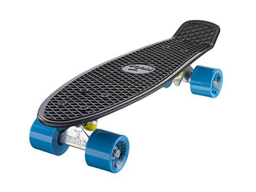 Ridge Skateboard Mini Cruiser, schwarz-blau, 22 Zoll