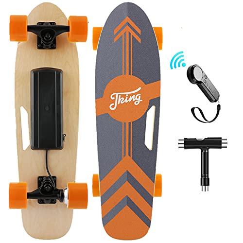 Nesaila 70cm(27') Elektro Skateboard mit Drahtloser Bluetooth Fernsteuerung,...