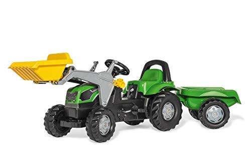 Rolly Toys rollyKid Deutz-Fahr 5115 G TB Trettraktor mit Anhänger (für Kinder...