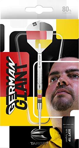 Target Darts Gabriel Clemens 80 80% Wolfram Softdarts-Set (21 g), schwarz, gelb,...