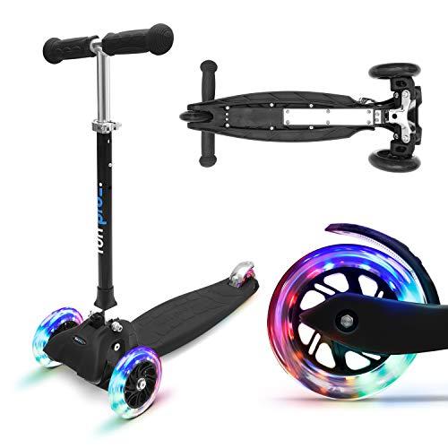 fun pro ONE - der sichere Premium Kinder Roller, LED 3 (DREI) Räder, faltbar,...
