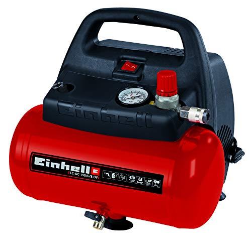 Einhell Kompressor TC-AC 190/6/8 OF (1.100 W, max. 8 bar, öl-/servicefreier...