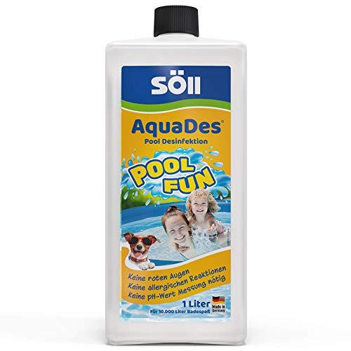 Söll 31430 AquaDes Pool-Desinfektion flüssig 1 l - wirksame Poolreinigung...
