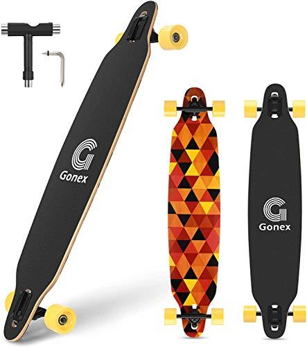Gonex 42' Longboard Skateboard für Mädchen Erwachsene Anfänger und Kinder,...