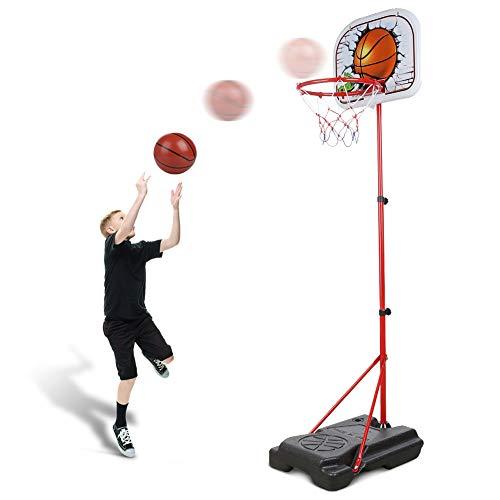 Abree Kinder Einstellbar Basketballkorb von 80 bis 170 cm mit Ständer...
