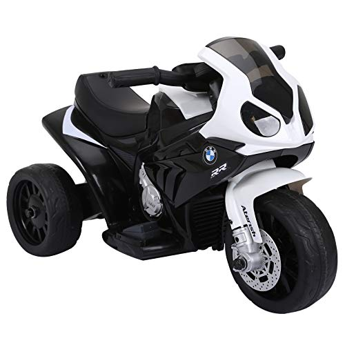 HOMCOM Elektro Kindermotorrad Kinderfahrzeug Lizensiert von BMW S1000RR...