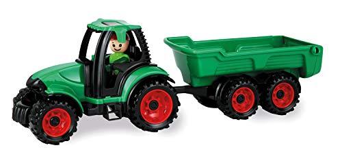 Lena 1625 Truckies Traktor mit Anhänger, stabiles Traktorset ca. 38 cm,...