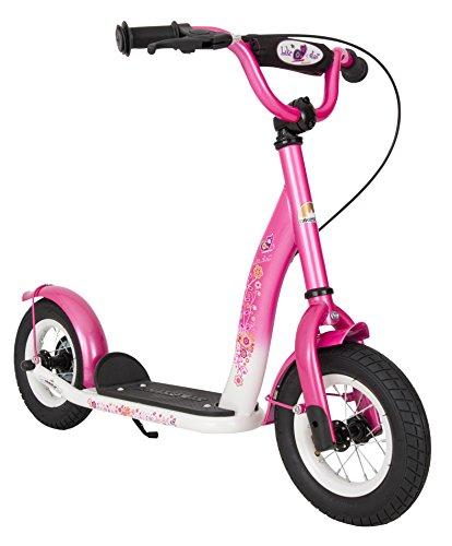 BIKESTAR Roller Kinderroller Tretroller Kickscooter mit Luftreifen für Mädchen...