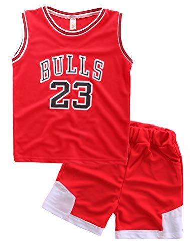 Odziezet Baby Kleidung Set Shirt Ärmlos + Shorts Junge Basketball Anzug 1-7...