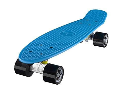 Ridge Skateboard Mini Cruiser, blau-schwarz, 22 Zoll, R22