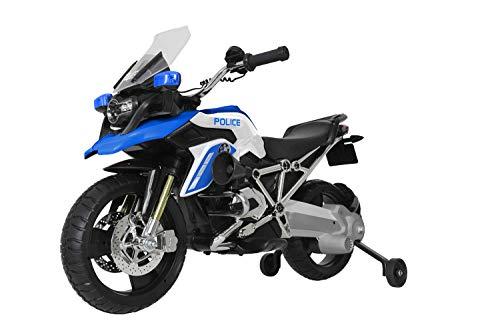 Rollplay BMW R1200 GS-Look Motorrad in Polizei-Design (Elektrofahrzeug für...