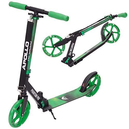 Apollo XXL Wheel Scooter - Phantom Pro City Scooter, Klappbarer City-Roller,...