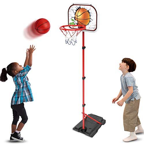 Basketballkorb für Kinder Basketball ständer, Höhenverstellbar 78-170cm,...