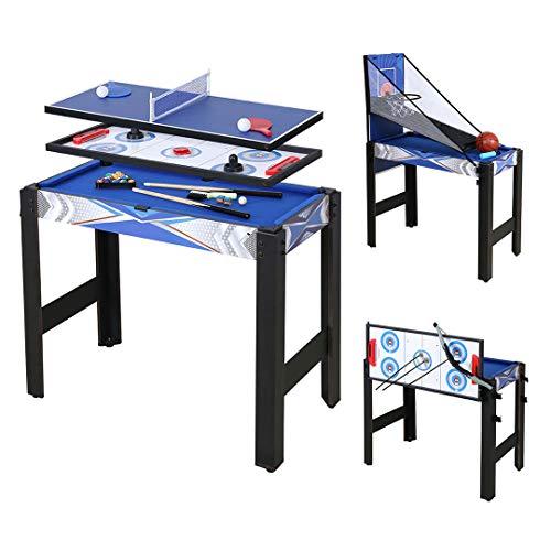 JCFDE Multigame Spieletisch Mega inkl. komplettem Zubehör, Spieltisch mit...