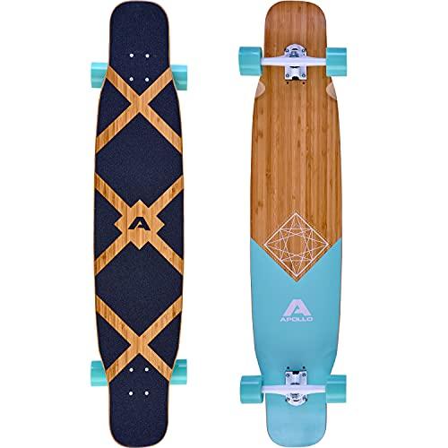Apollo Dancer Longboard Bora, 46 x 9,5 Zoll, ABEC 9 Kugellager, stylische...