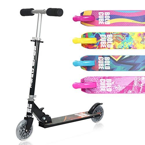 BOLDCUBE Faltbare Scooter Kinder mit PU Räder - ZweiRad Roller für Kinder...