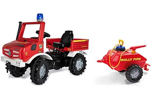 Rolly Toys Fire Unimog Feuerwehr Edition 2020 mit Anhänger (Tretauto 3 – 8...