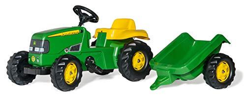 Rolly Toys 012190 - rollyKid John Deere (mit Anhänger, Drehschemellenkung,...
