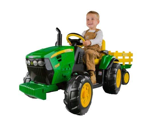 John Deere Ground Force Kinder Elektro Traktor von Peg Perego 12 Volt mit...