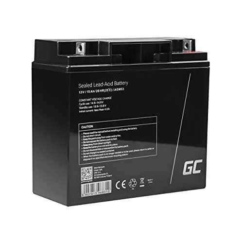 Green Cell® AGM 12V 15Ah Akku VRLA Blei-Batterie Bleiakku Ersatzakku Gelakku...