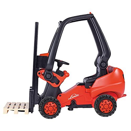 BIG - Linde Forklift - Kindergabelstapler, Spielfahrzeug mit...