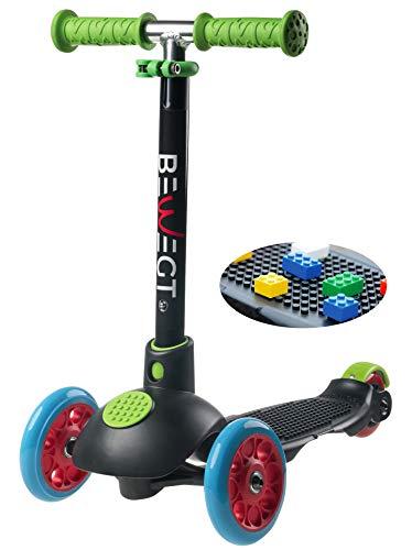 BEWEGT zum Spielen 3-Rollen Roller Kleinkind Dreirad Kinder Kick Scooter mit 50...
