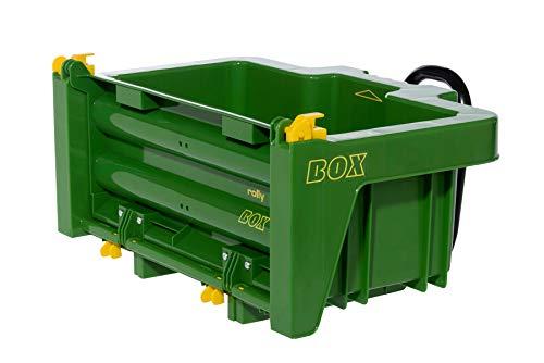 Rolly Toys rollyBox John Deere Traktoranhänger (Kippfunktion, Farbe grün, für...
