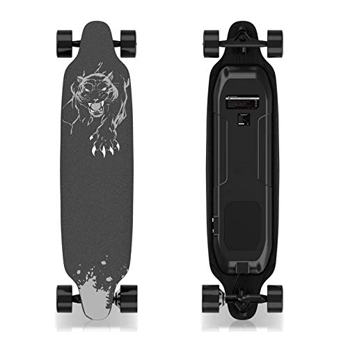 GeekMe Elektro-Skateboard mit Fernbedienung, 400-W-Longboard für bürstenlose...