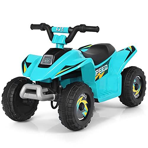 COSTWAY 6V Elektro Kinderquad 2,8-4,6 km/h, Mini Elektroquad, Kinderauto,...