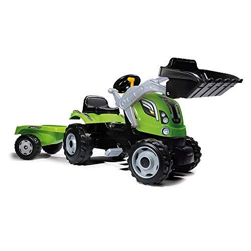 Smoby 7600710109 - Traktor Farmer XL-Loader - Trettraktor mit Anhänger, Trailer...