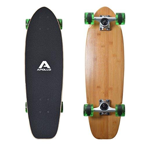 Apollo Mini-Longboard, toller Midi Cruiser als Komplett-Board, 70cm (30x8),...