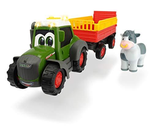 Dickie Toys ABC Fendt Animal Trailer, Traktor für Kinder ab 1 Jahr, Trecker mit...