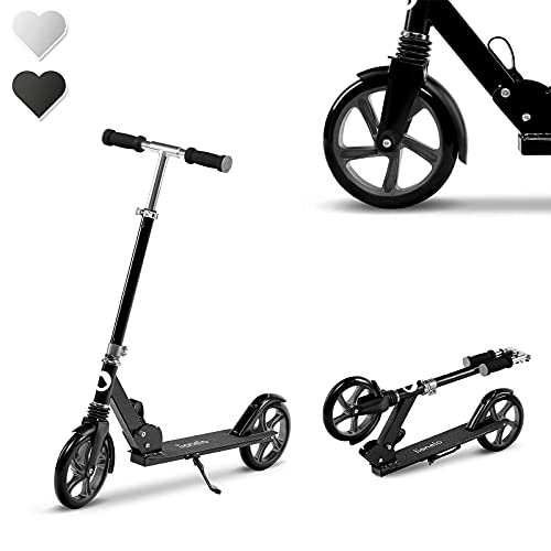 Lionelo Luca Roller Kinder Roller Erwachsene Tretroller bis 100kg Räder 200mm...